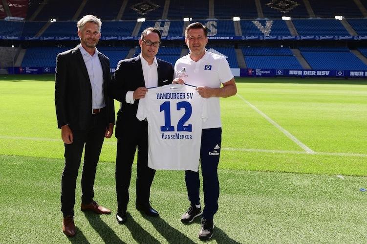 Partnerschaft-HSV-HanseMerkur in Hanse Merkur sponsert den HSV