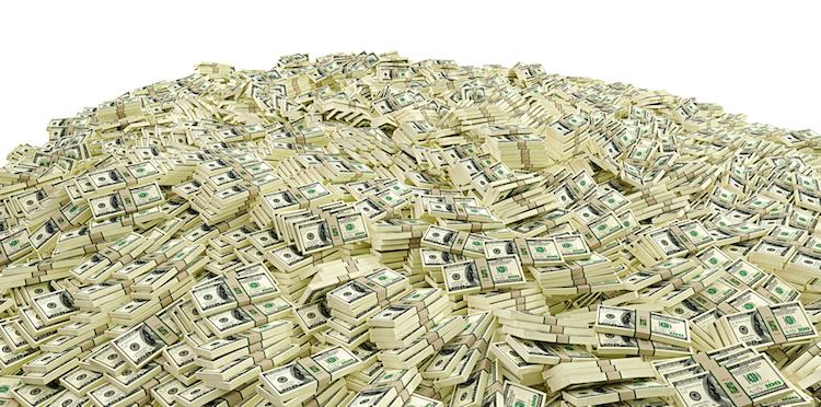 Dollar in Geldberg wächst weltweit
