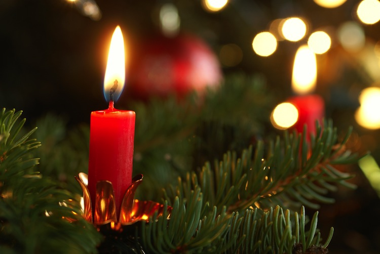 Shutterstock 145297504 Weihnachtsbaum Kerze-1 in Advent, Advent ein Lichtlein brennt...