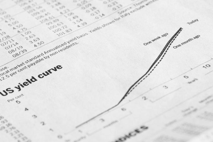 Yield-curve-zinskurve-shutterstock 289493321 in Warum eine fallende Zinsstrukturkurve eine Rezession auslöst