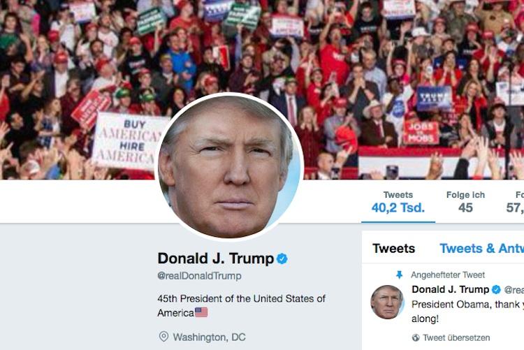 Donald Trump kommuniziert am liebsten über Twitter. Er ist bekannt für seine teilweise wütenden, ungefilterten Tweets.