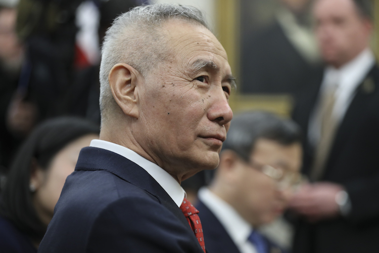 Vice Premier Liu He of the People's Republic of China listens during a meeting with United States President Donald J. Trump in the Oval Office of the White House on January 31, 2019 in Washington, DC. Photo Credit: Oliver Contreras/CNP/AdMedia |