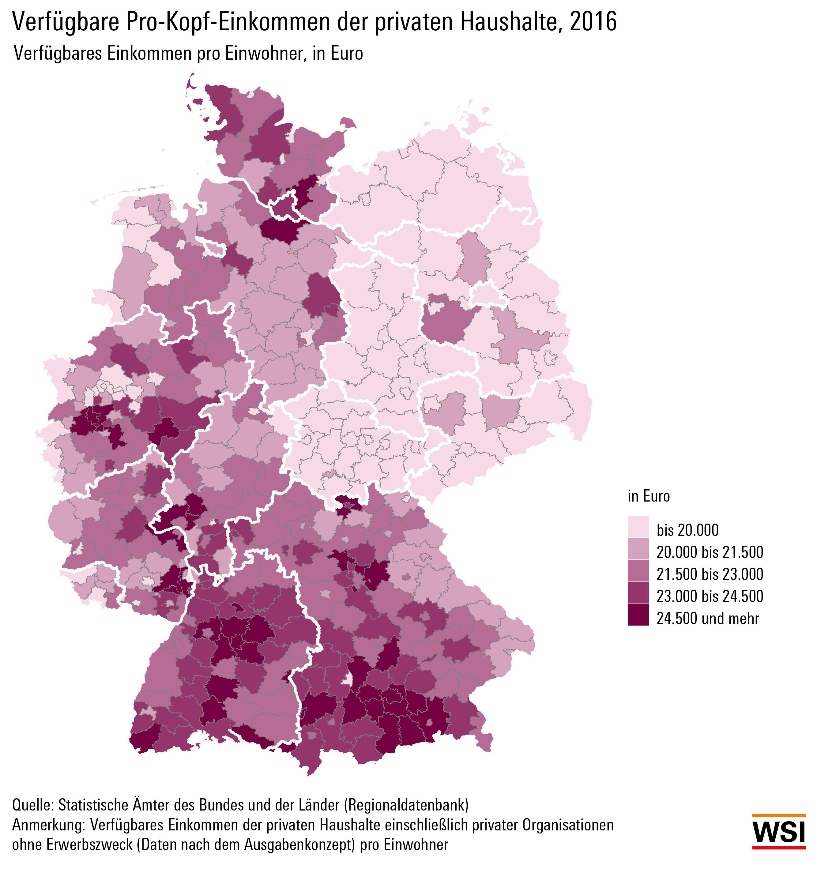 Pro-Kopf-Einkommen: Wo der Wohlstand wohnt