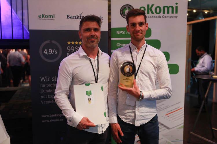 Award1 in Ausgezeichnet: hepster gewinnt BankingCheck-Award