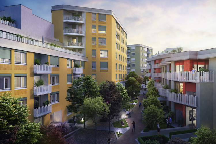 18-1101-B03 WUN HAS Innenhof in BayernHeim GmbH kauft bezahlbare Wohnungen