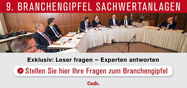 Branchengipfel-2019 in 9. Cash.-Branchengipfel Sachwertanlagen