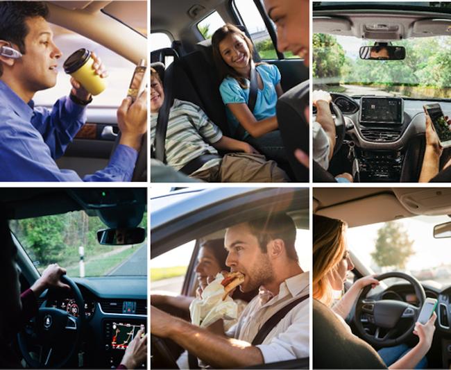 Bild-zu-Ablenkungsursachen DA-Direkt-Fahrsicherheitstraining 4x3 in Die unterschätzte Gefahr