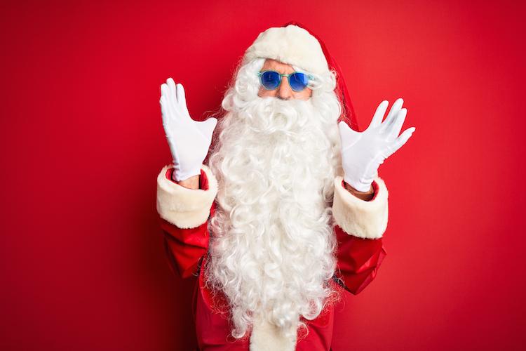 Santa in Canada Life versichert den Weihnachtsmann