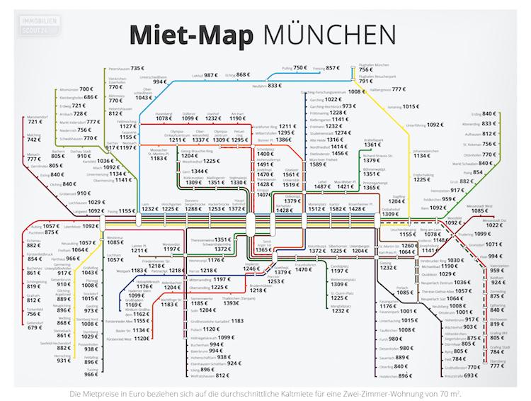 2019 Mietmap Mu Nchen in Verkehrsanbindung treibt Mieten in München