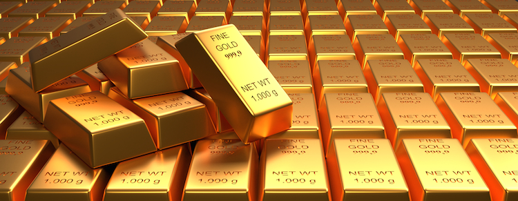 Goldbarren in Barrick Gold: Produktion übertrifft Erwartungen