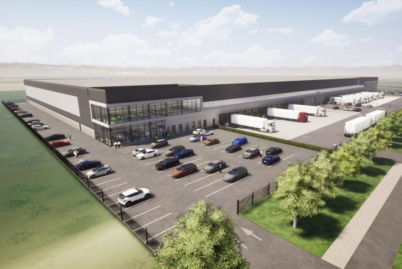 Zeichnung des geplanten Logistik Zentrums von Garbe
