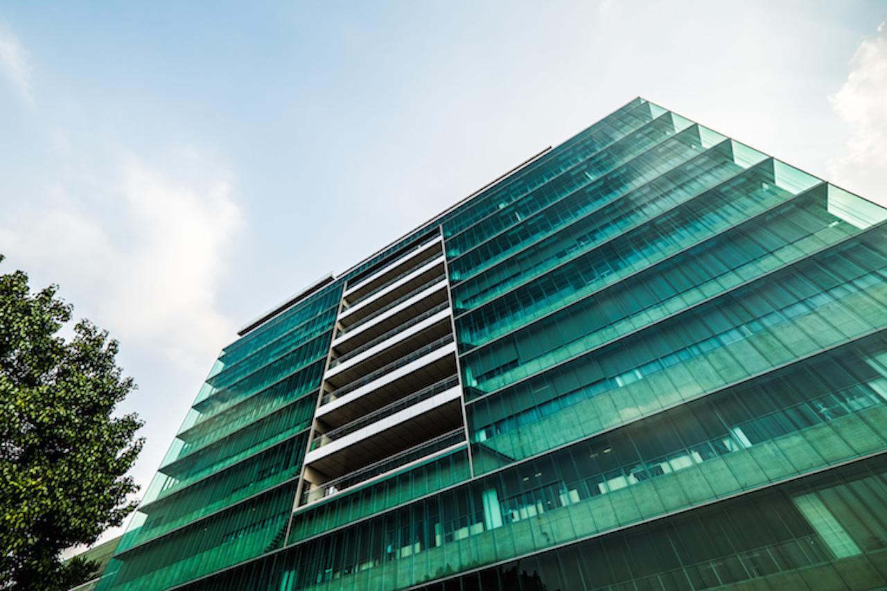 Haus mit energiesparender Fassade