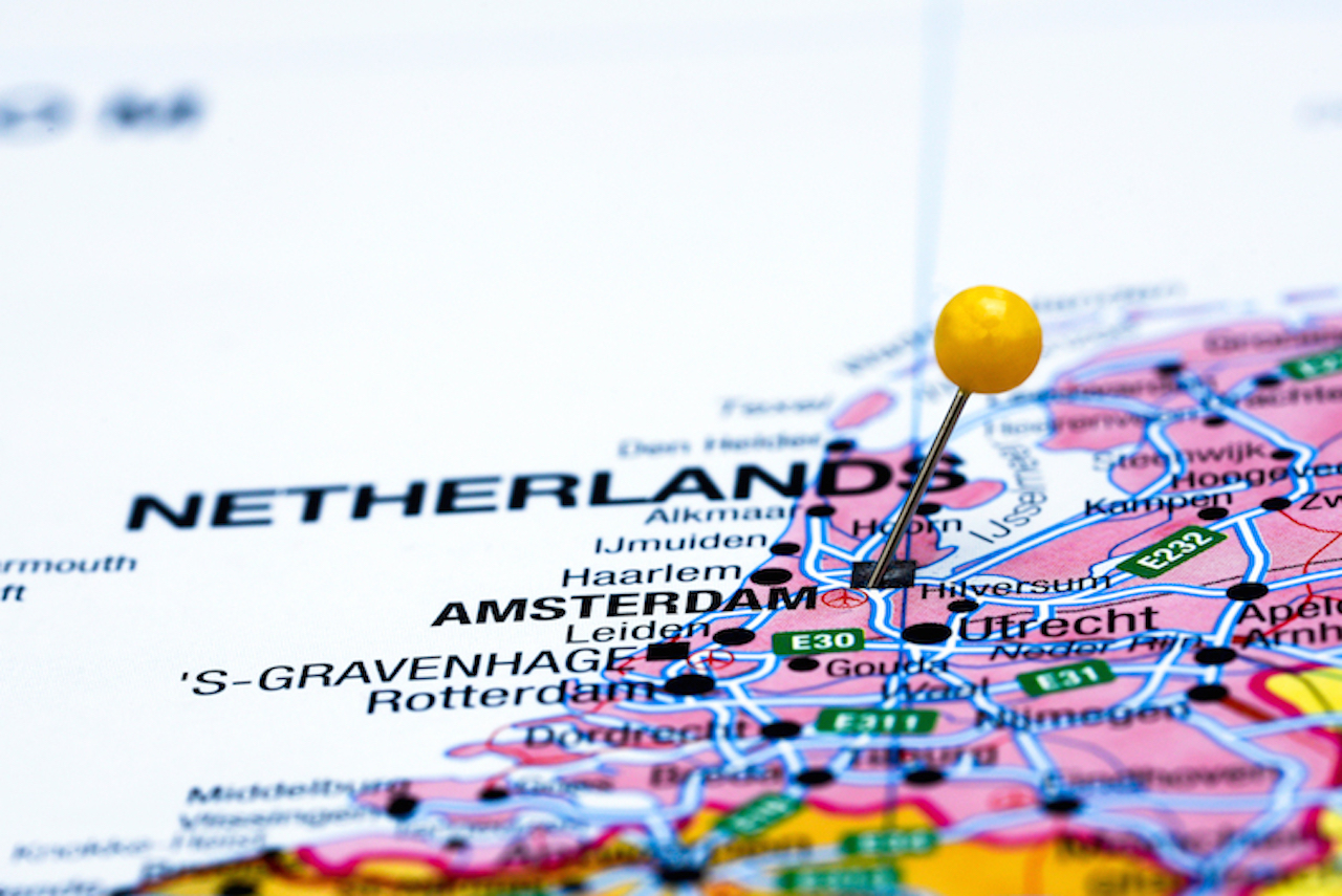 Karte der Niederlande