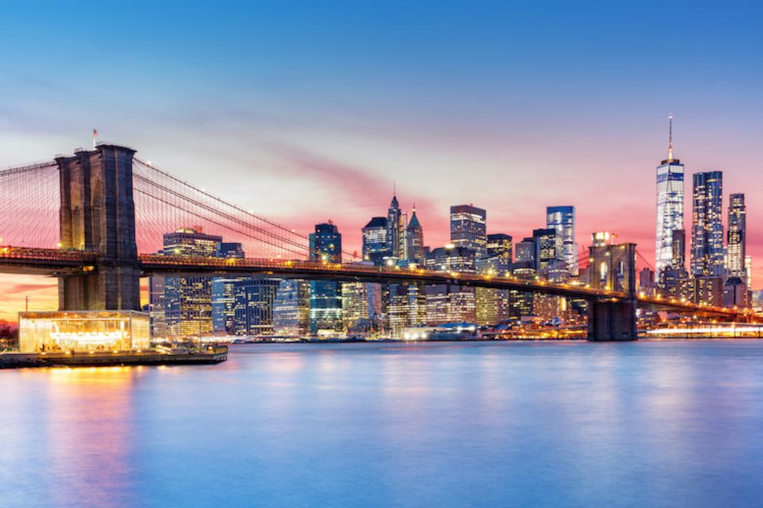 Der traumhafte Blick auf die Skyline von Manhattan