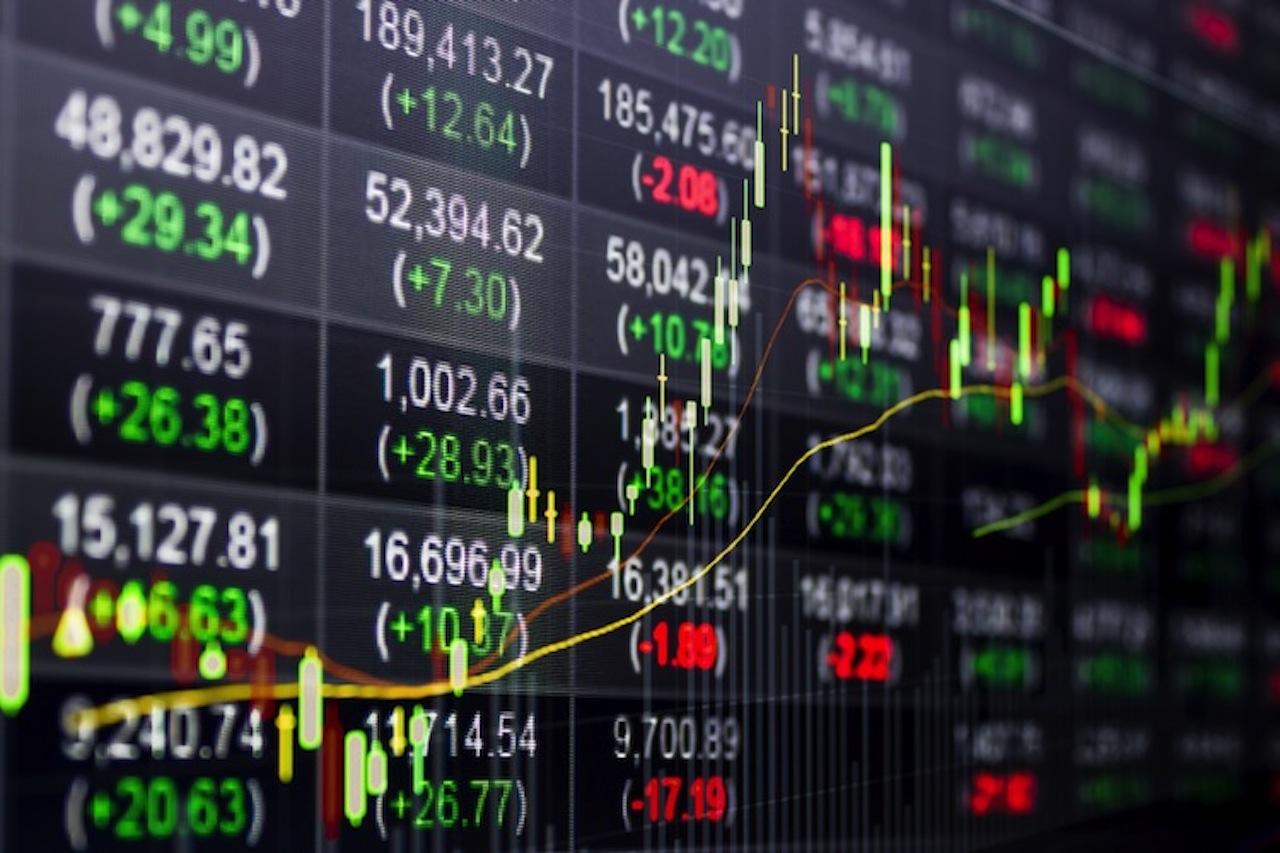 Kurstafel in der Börse