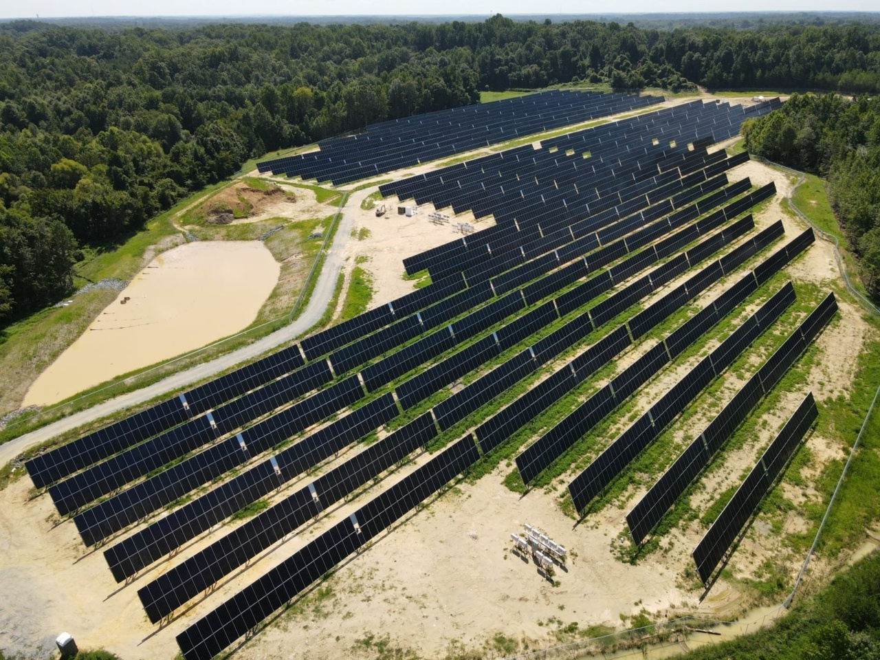 Solarpark Luftaufnahme