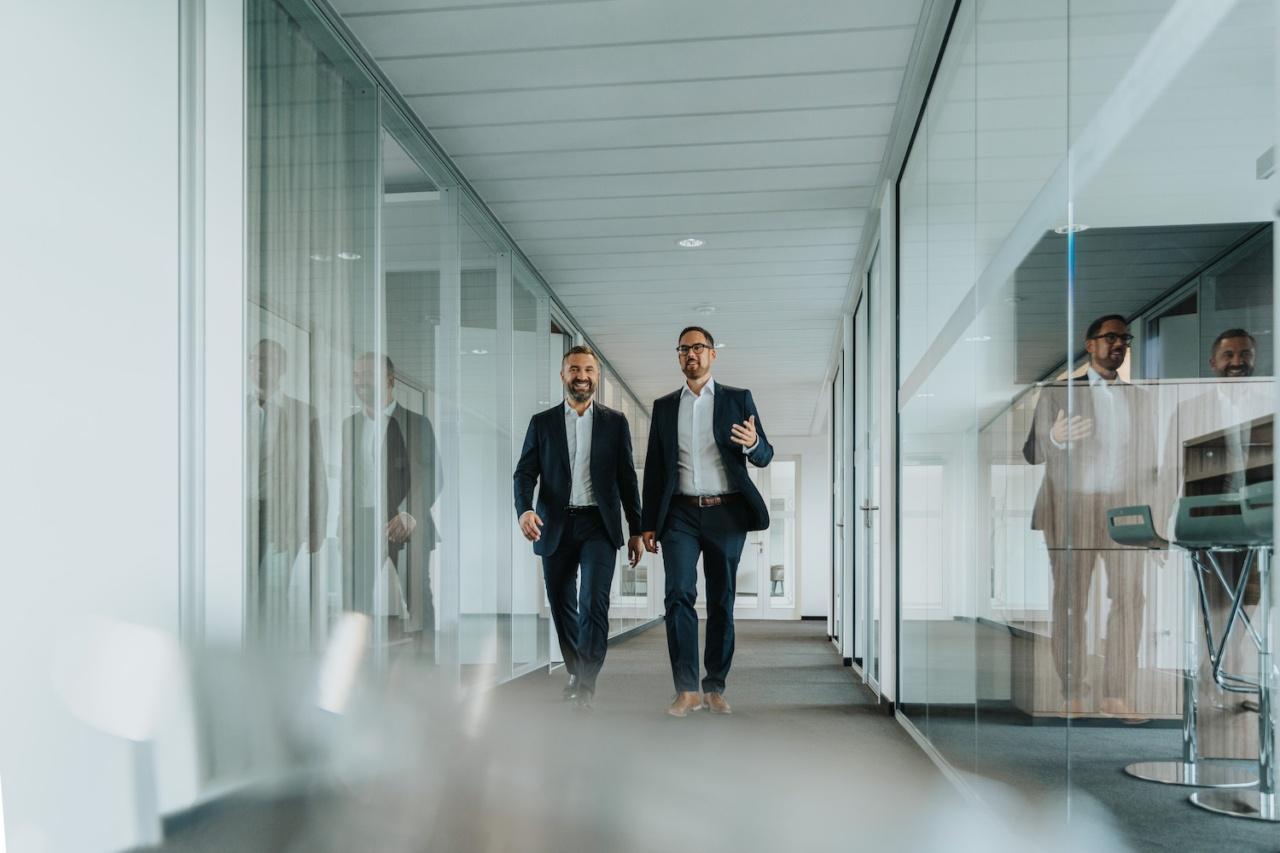 Der Vorstand unterwegs in der neuen Service-Zentrale in Bonn