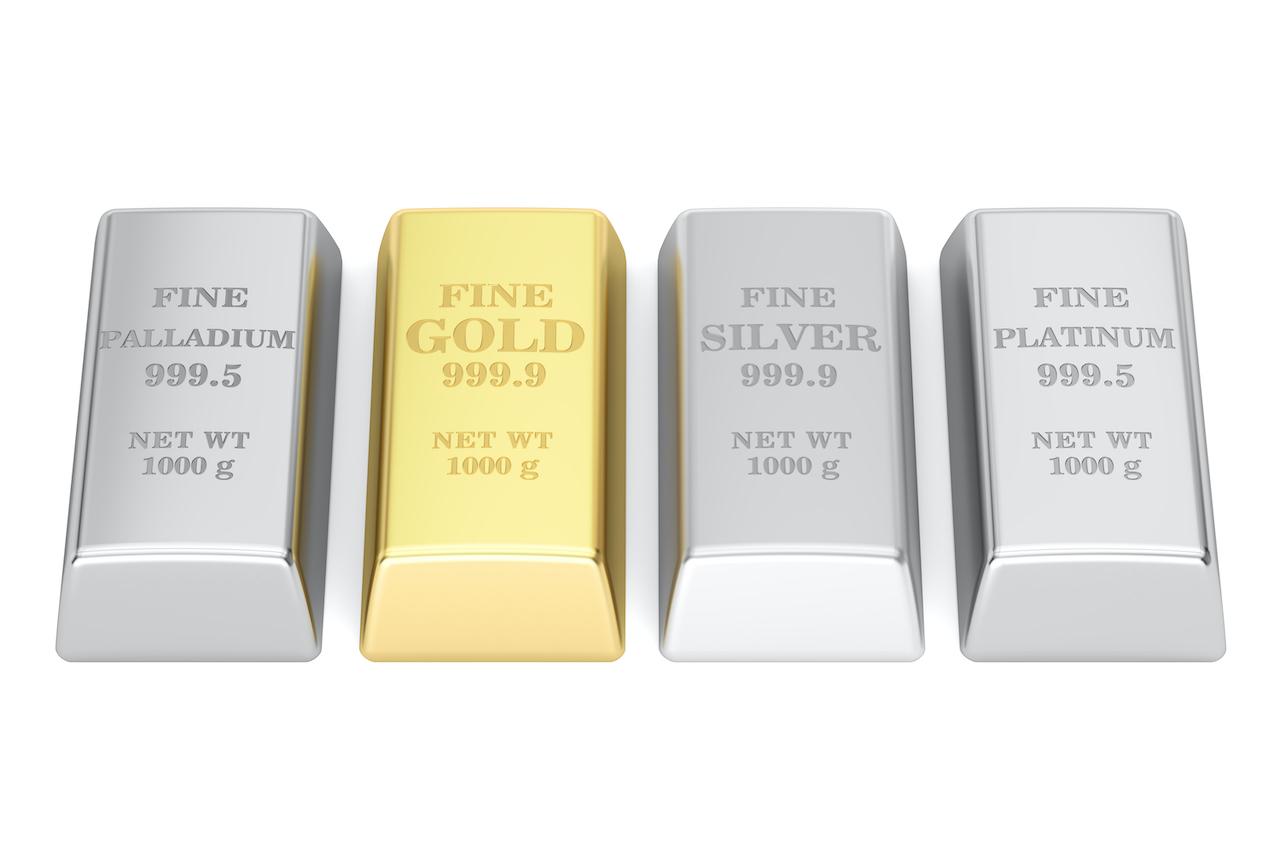 Barren aus Gold, Silber, Platin und Palladium