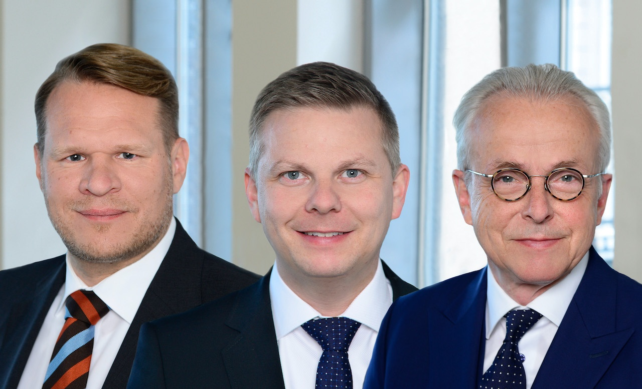 Die drei Geschäftsführer von Warburg-HIH Invest