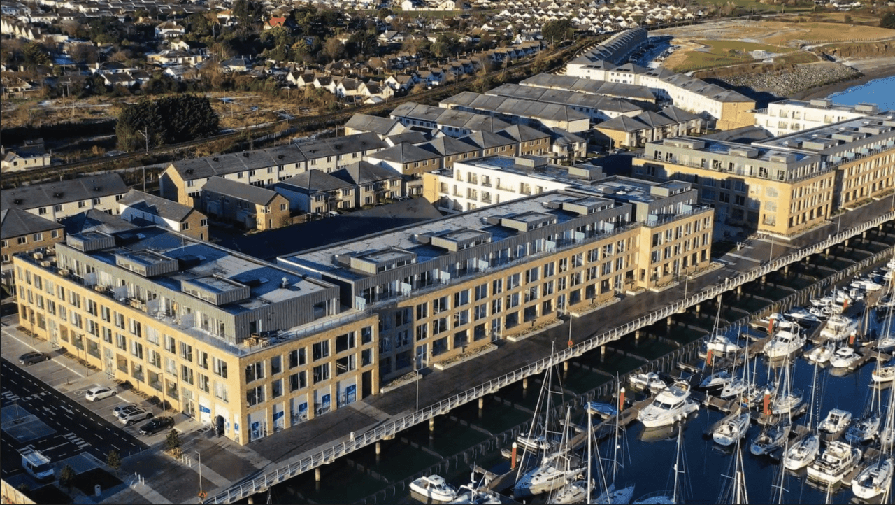 Luftbild des Projekts von Real I.S. in Irland