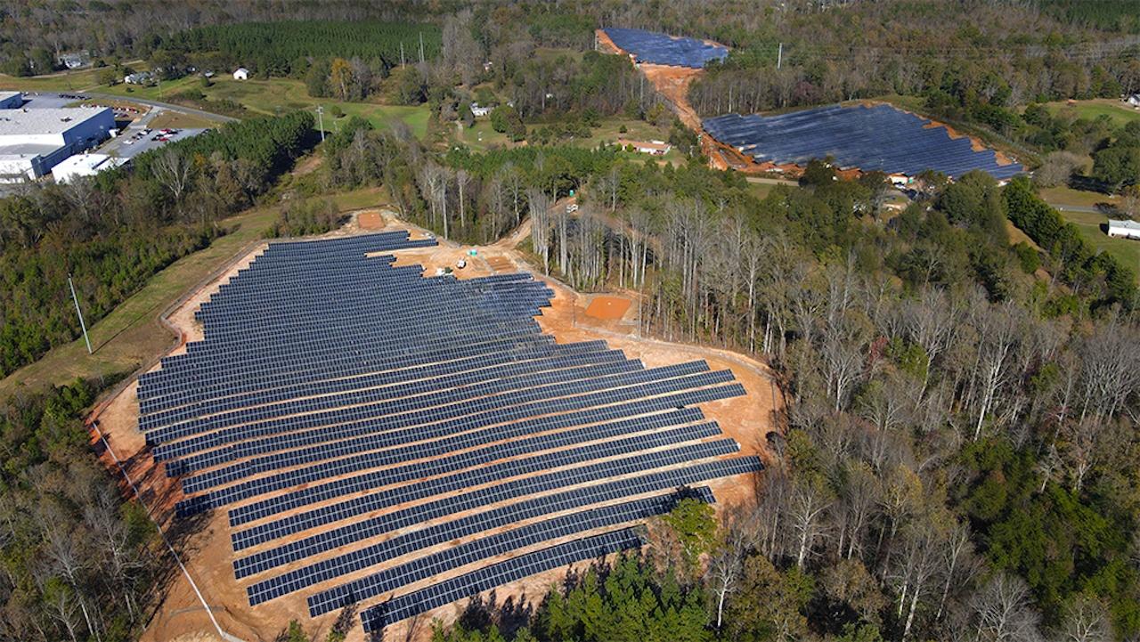 Luftbild des Hep Solarparks