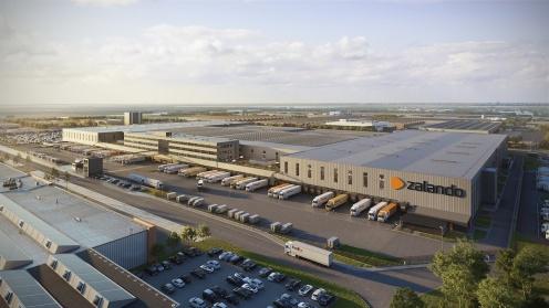 Luftaufnahme des Zalando Zentrums in Holland