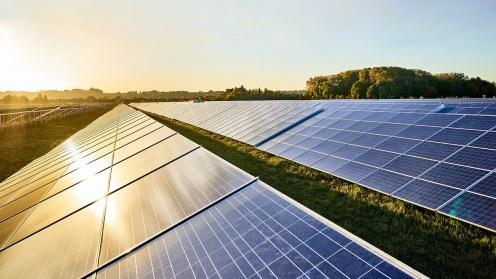 Solaranlage von Hep in der Abendsonne