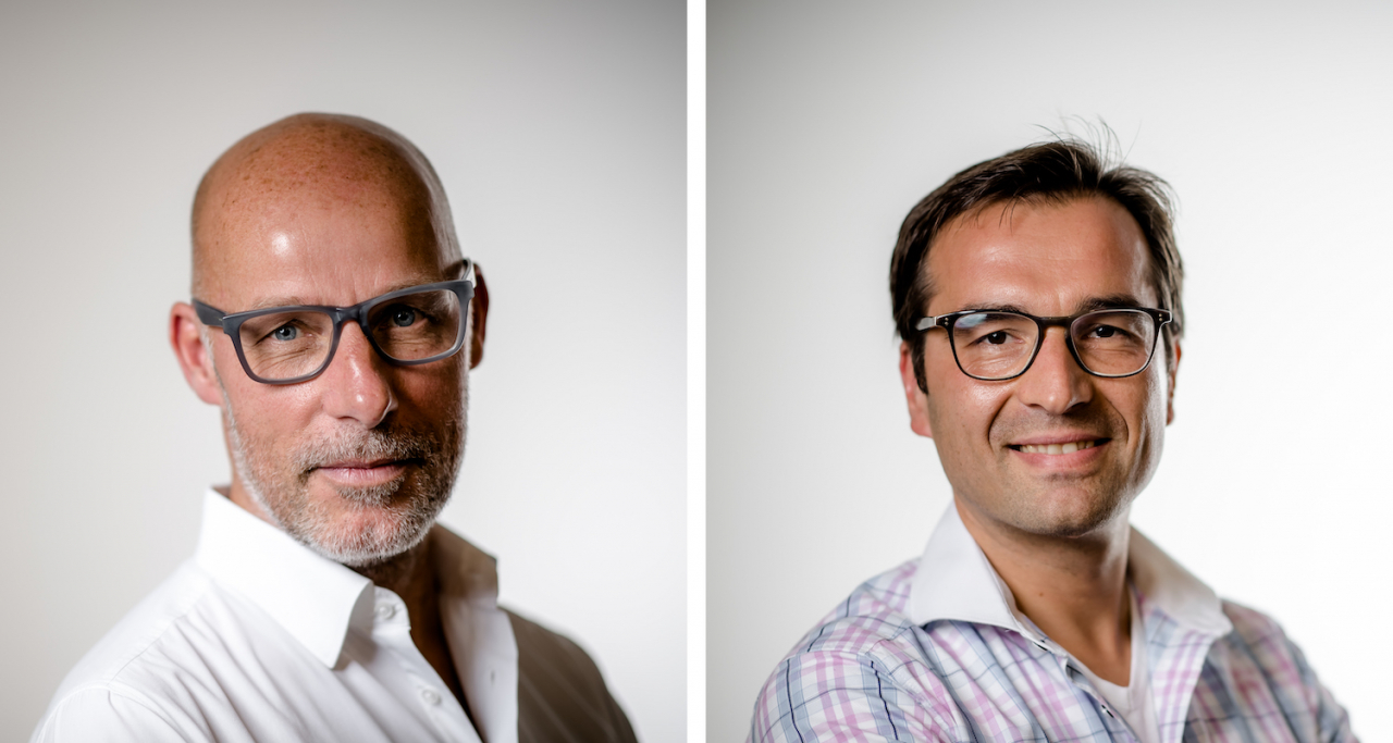 Portraitfotos von (v. l. n. r.) Gunter Schäfer und Alexander Funk