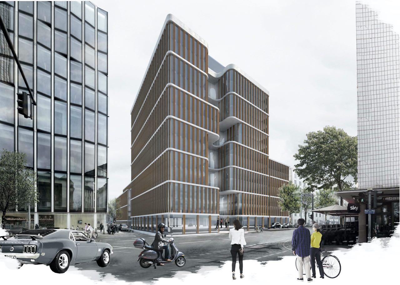 Geplantes Bürohaus von CV Real Estate in Frankfurt