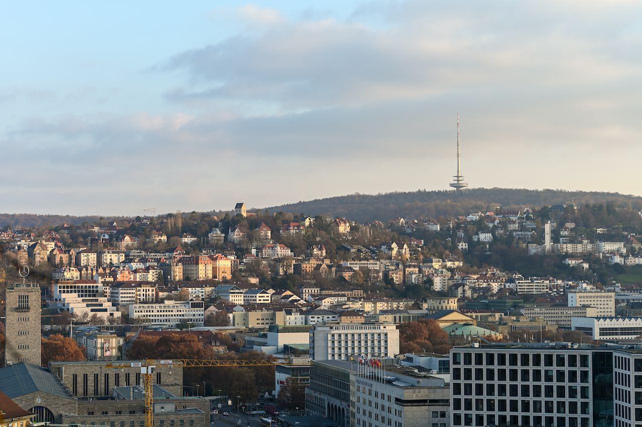 Luftbild von Stuttgart, wo Drees & Sommer den Sitz hat