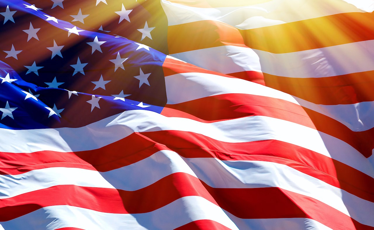 US-Flagge als Symbol für BVT