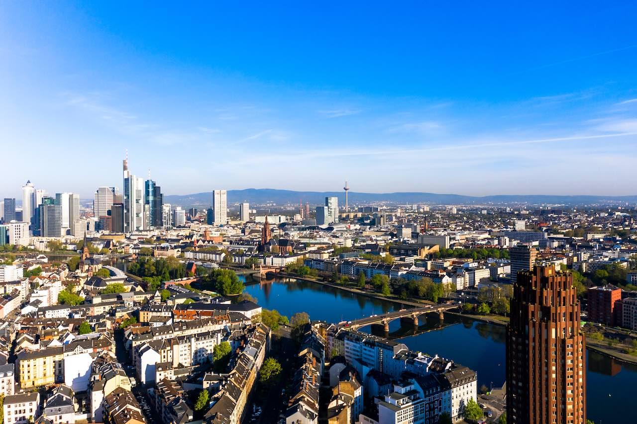 Luftbild von Frankfurt