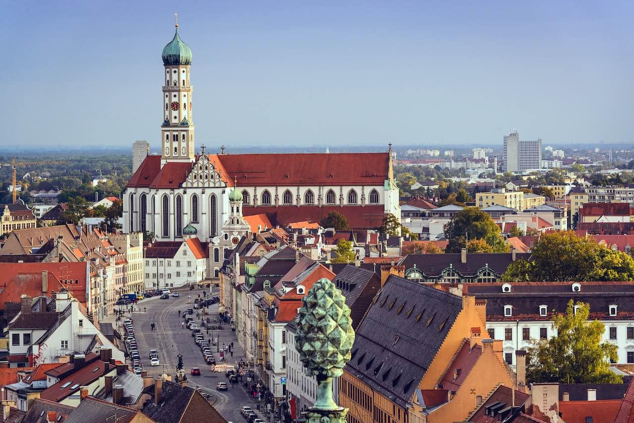 Altstadt des Corestate Investitionsstandorts Augsburg