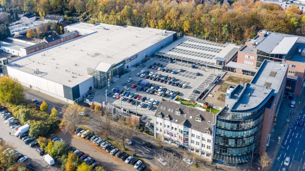 Luftaufnahme des Hahn Objekts in Mönchengladbach