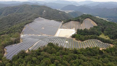 Solarpark in Kamigori in Japan