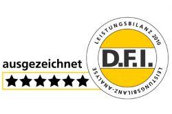 D.F.I. vergibt sechs Sterne für Conti-Leistungsbilanz