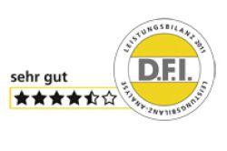 D.F.I. vergibt 4,5 Sterne für HEH-Leistungsbilanz 2011