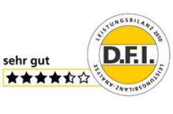 D.F.I. vergibt 4 ½ Sterne für DIVAG-Leistungsbilanz