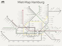 Miet-Map für Hamburg: Am teuersten ist es an der U1