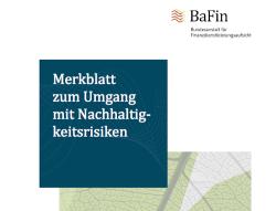 BaFin will über Nachhaltigkeitsrisiken aufklären